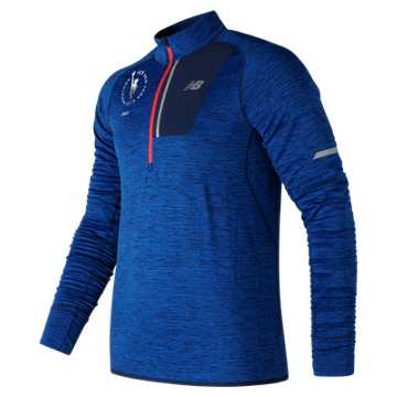 New Balance NYC Marathon NB Heat Half Zip, Team Royal Heather