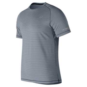 New Balance Seasonless Short Sleeve, Athletic Grey with Multi Color