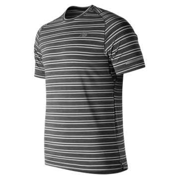 New Balance Seasonless Short Sleeve, Black Heather