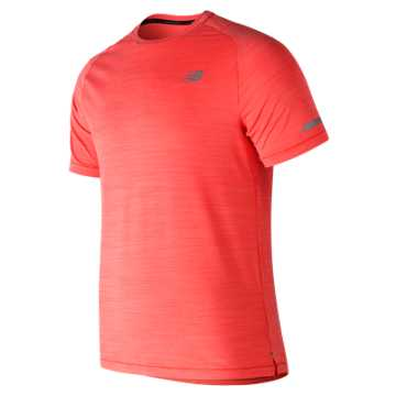 New Balance Seasonless Short Sleeve, Flame Heather