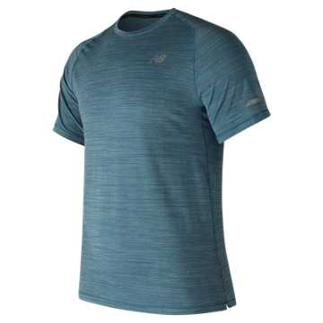 New Balance Seasonless Short Sleeve, Moroccan Blue Heather