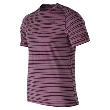 New Balance NYC Marathon Seasonless Short Sleeve, Claret Heather