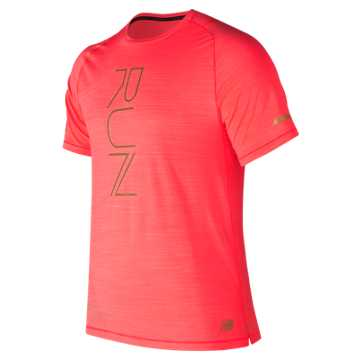 New Balance NYC Marathon Seasonless Short Sleeve, Energy Red Heather