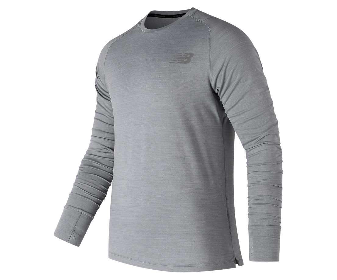 NB Seasonless Long Sleeve, Athletic Grey