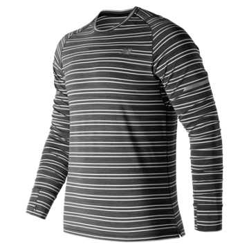 New Balance Seasonless Long Sleeve, Black Heather