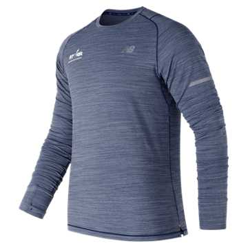 New Balance Run for Life Seasonless Long Sleeve, Techtonic Blue Heather