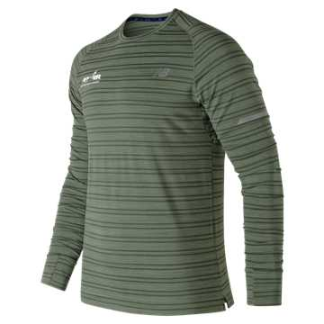 New Balance Run for Life Seasonless Long Sleeve, Vintage Cedar