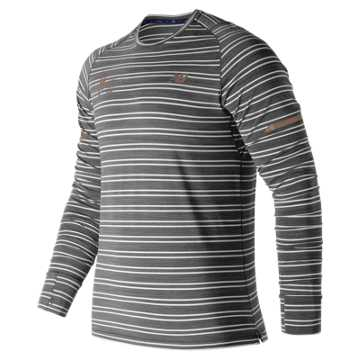 New Balance NYC Marathon Seasonless Long Sleeve, Black Heather