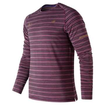 New Balance NYC Marathon Seasonless Long Sleeve, Claret Heather