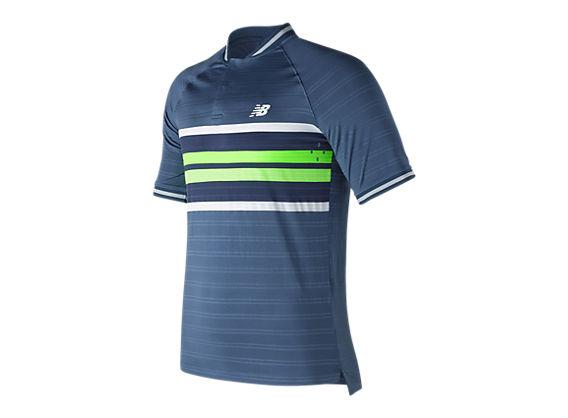 74aa22af Men's TournaMen'st Henley Short Sleeve Tennis Top | New Balance