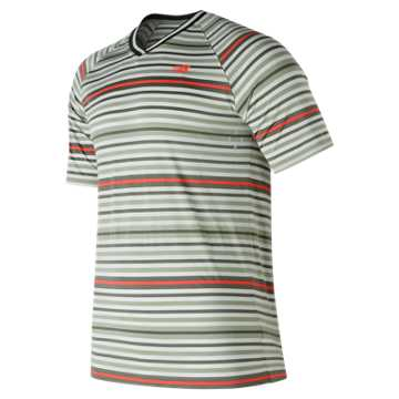 New Balance Tournament V Neck, Silver with Mint