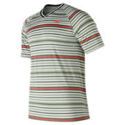 NB Tournament V Neck, Silver with Mint