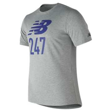 New Balance 247 Sport Tee, Athletic Grey