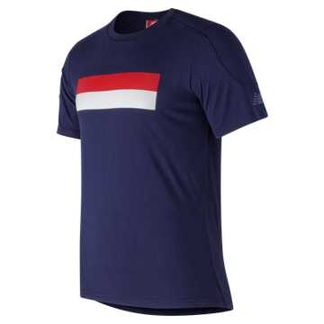New Balance NB Athletics Stripe Tee, Pigment