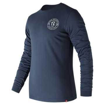New Balance Track Club Long Sleeve Tee, Vintage Indigo