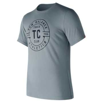 New Balance Track Club Emblem Tee, Cyclone