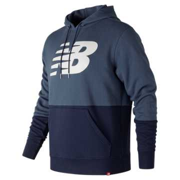 New Balance Essentials Pullover Hoodie, Vintage Indigo with Multi Color