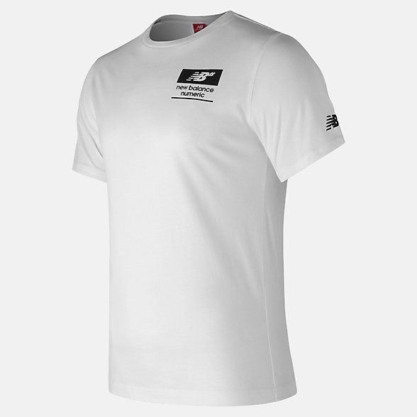 New Balance NB Numeric Stacked Tee, MT73574WT
