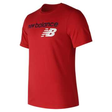 New Balance NB Athletics Main Logo Tee, Red Pepper