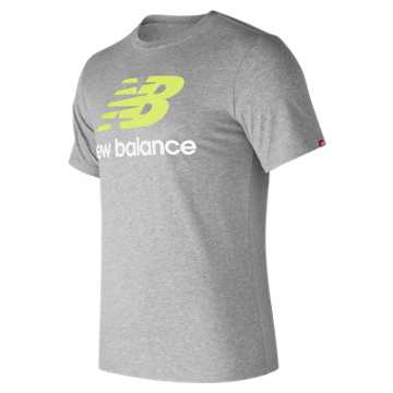 New Balance Essentials Stacked Logo Tee, Athletic Grey Multi