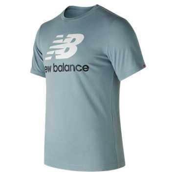 New Balance Essentials Stacked Logo Tee, Cyclone