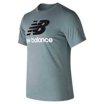 New Balance Essentials Stacked Logo Tee, Slate