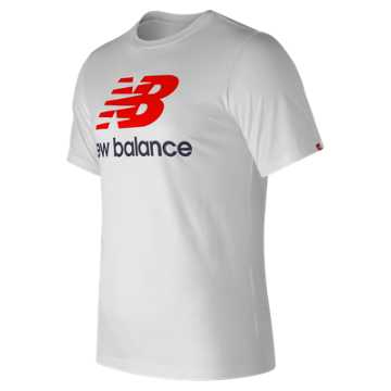 New Balance Essentials Stacked Logo Tee, White