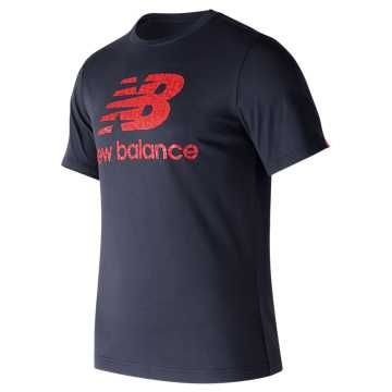 New Balance Essentials Filled Logo Tee, Dark Cyclone