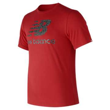New Balance Essentials Filled Logo Tee, Red Pepper