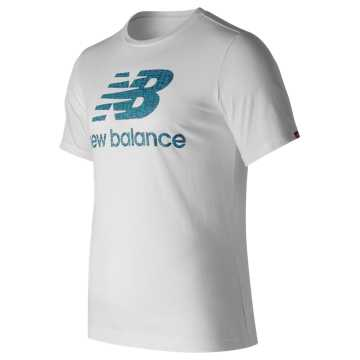 New Balance Essentials Filled Logo Tee, White