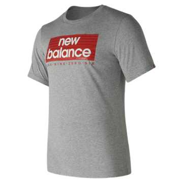 New Balance Essentials Boxer Tee, Athletic Grey