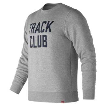New Balance Essentials Track Club Crew, Athletic Grey