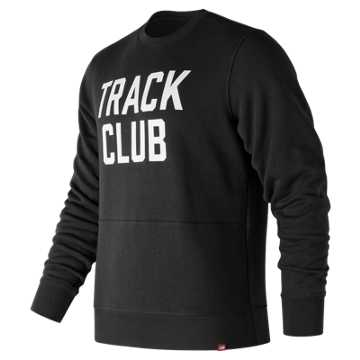 New Balance Essentials Track Club Crew, Black