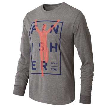 New Balance NYC Marathon Finisher Run Long Sleeve, Grey