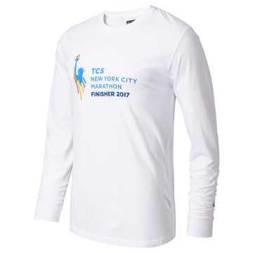 New Balance NYC Marathon Finisher Long Sleeve, White