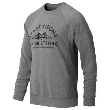 New Balance NYC Marathon Finish Strong Long Sleeve, Grey