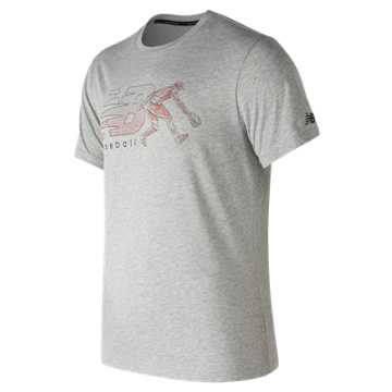 New Balance Beta Baseball 5050 Tee, Athletic Grey