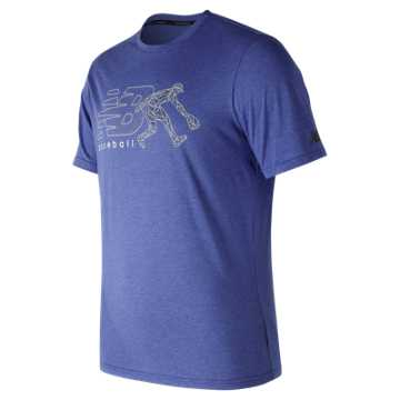 New Balance Beta Baseball 5050 Tee, Team Royal
