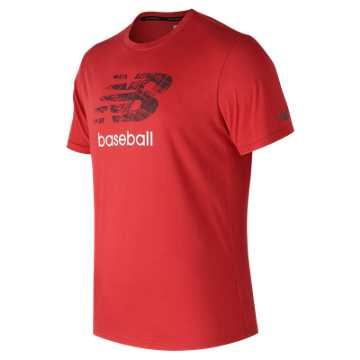 New Balance Baseball Grind 5050 Tee, Red Pepper