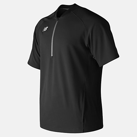 New Balance Short Sleeve 3000 Batting Jacket, MT73706TBK image number null