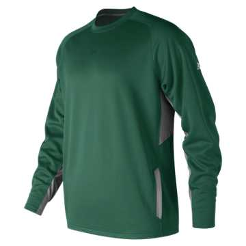 New Balance Baseball Pullover 2.0, Team Dark Green