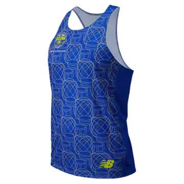 New Balance Men's Queens 10k Singlet, Team Royal