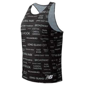 New Balance NYC Marathon Singlet, Black