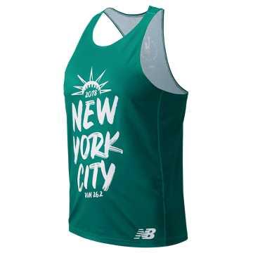 New Balance NYC Marathon Singlet, Juniper