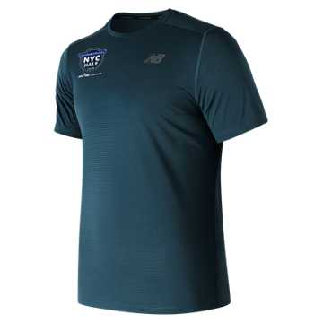 New Balance United Airlines NYC Half Max Intensity Short Sleeve, North Sea