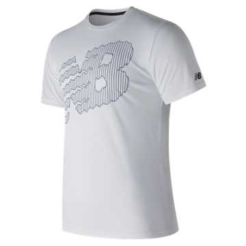 New Balance NB Heather Tech Tee, White