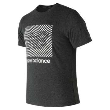 New Balance Hi-Def Heather Tech Tee, Black Heather
