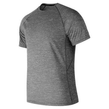 New Balance Tenacity Short Sleeve, Heather Charcoal