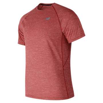 New Balance Tenacity Short Sleeve, Red Pepper