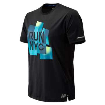 New Balance United Airlines NYC Half NB Ice 2.0 Short Sleeve, Black